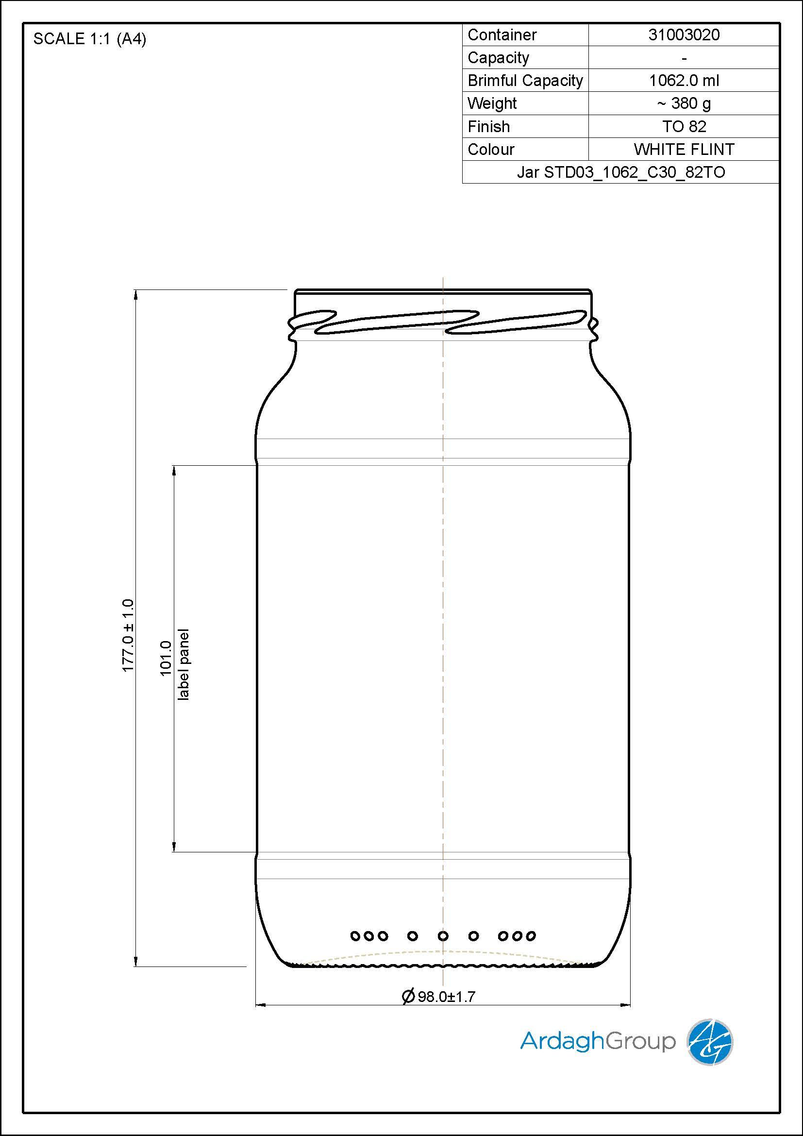 Jar STD03 1062 C30 82TO