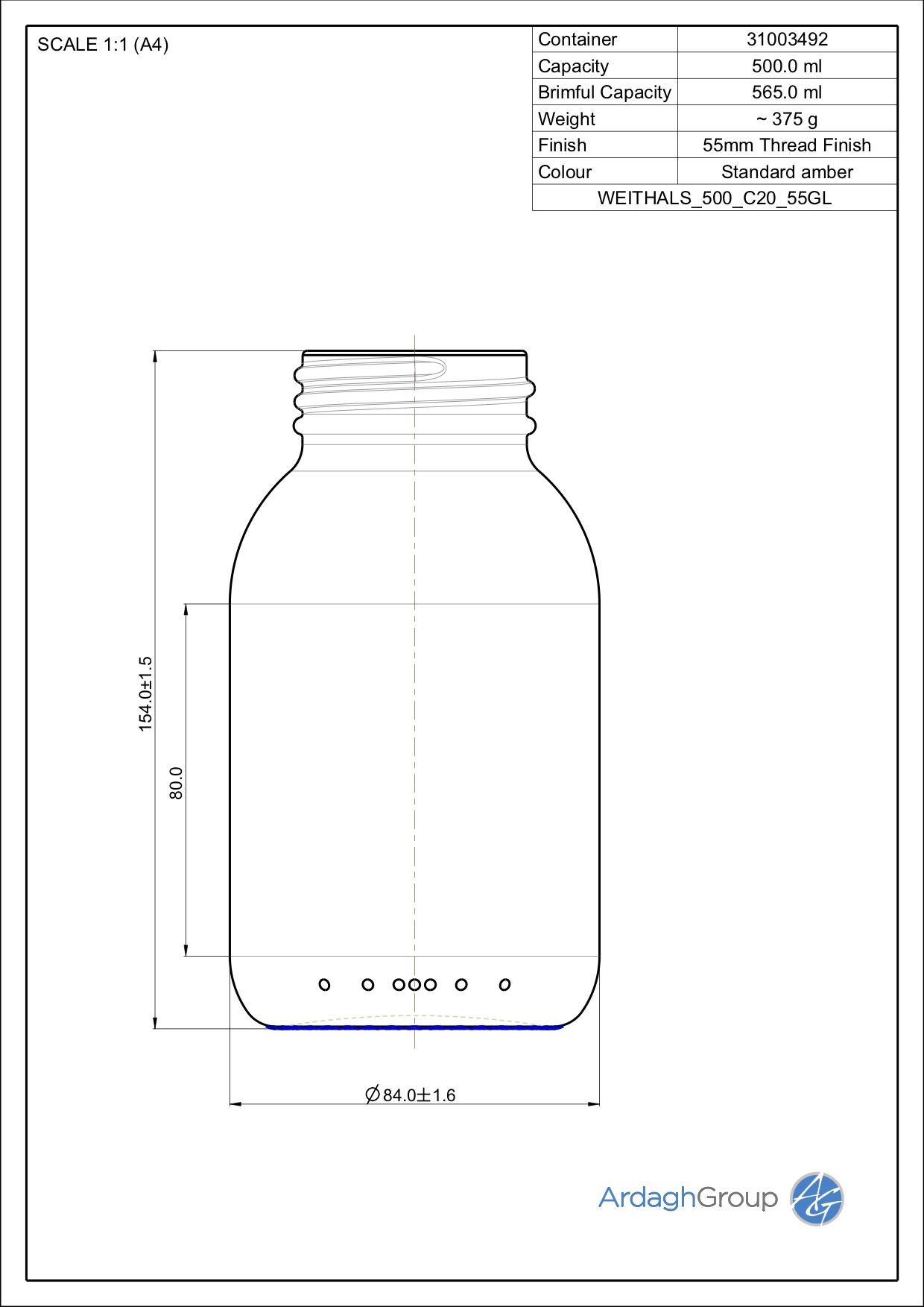 widemouth jar 500 ml