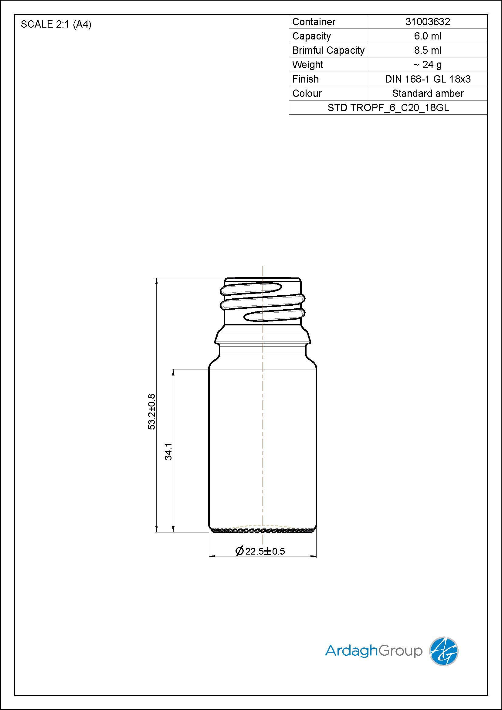 dropper bottle 6 ml