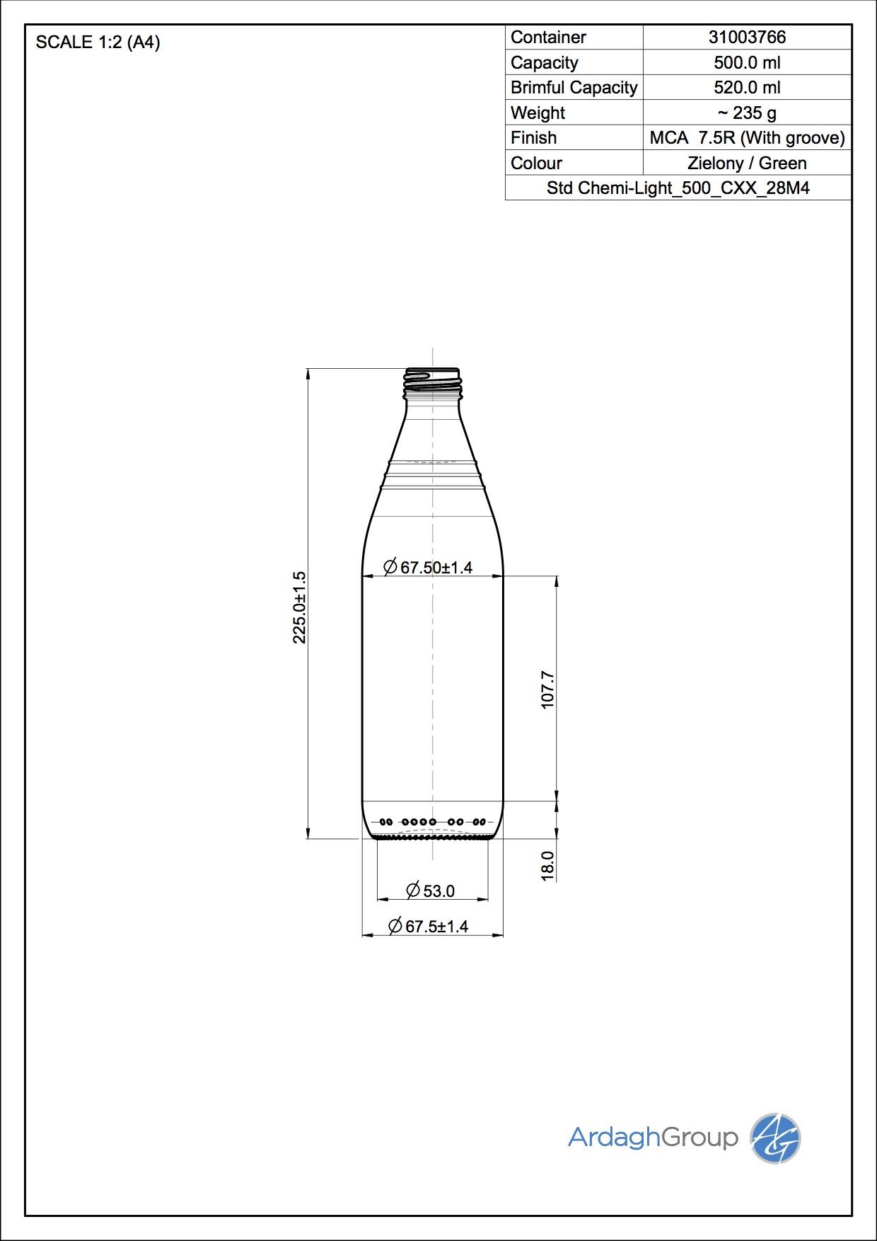 Std Chemi-Light 500 CXX 28M4