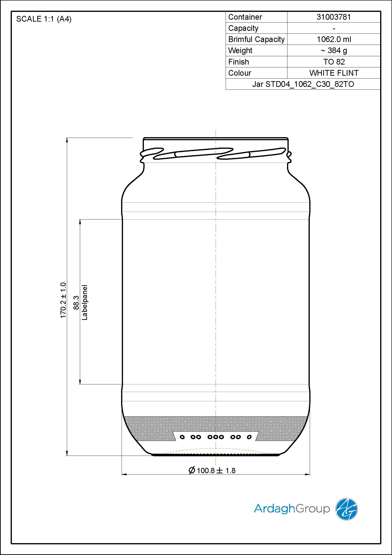 Jar STD04 1062 C30 82TO