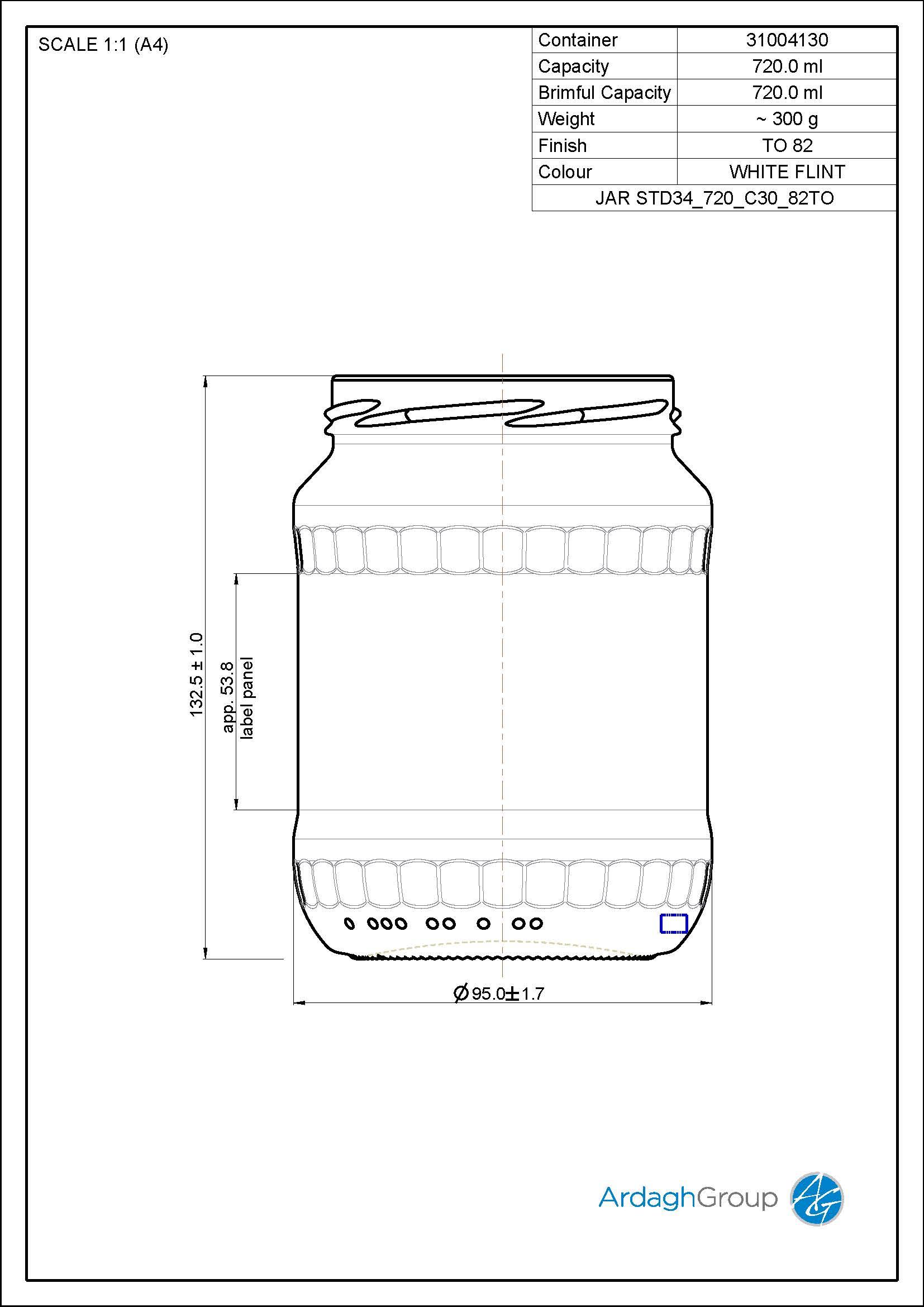 Jar STD34 720 C30 82TO