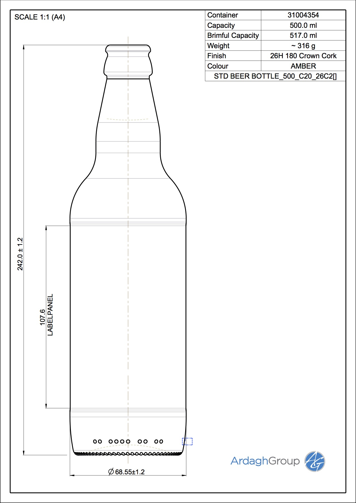STD BEER BOTTLE_500_C20_26C2