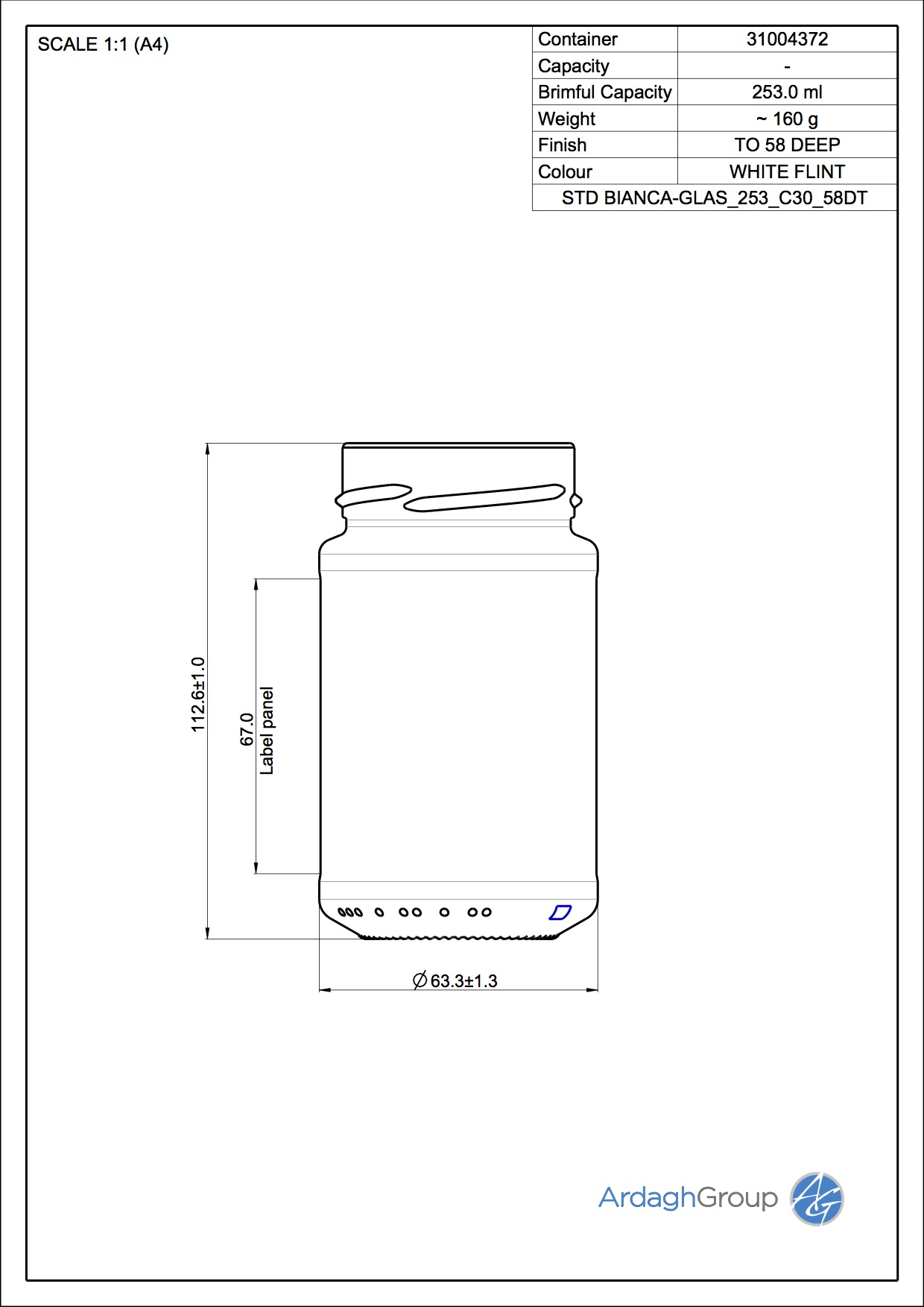 STD BIANCA-GLAS_253_C30_58DT