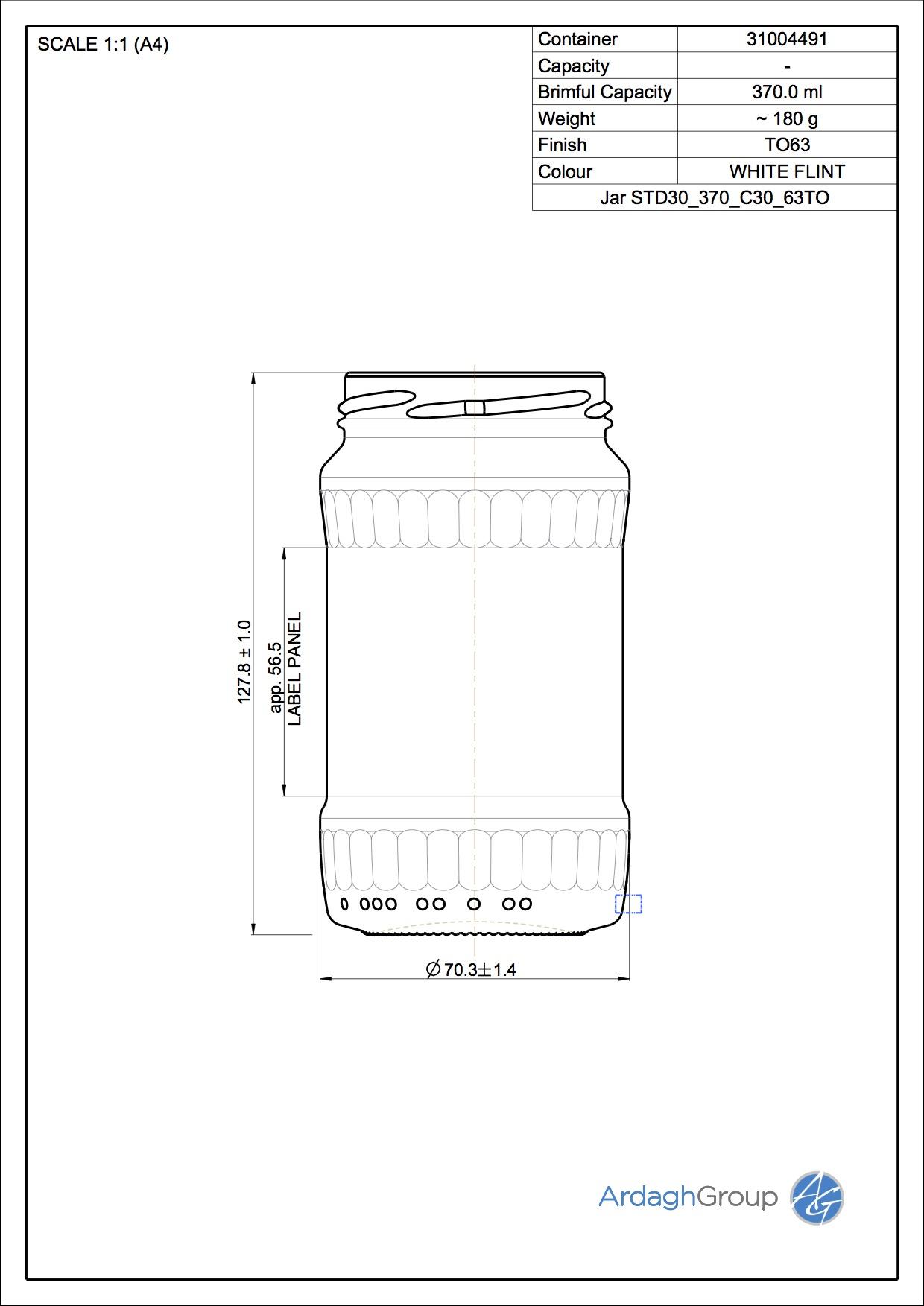 Jar STD30 370 C30 63TO