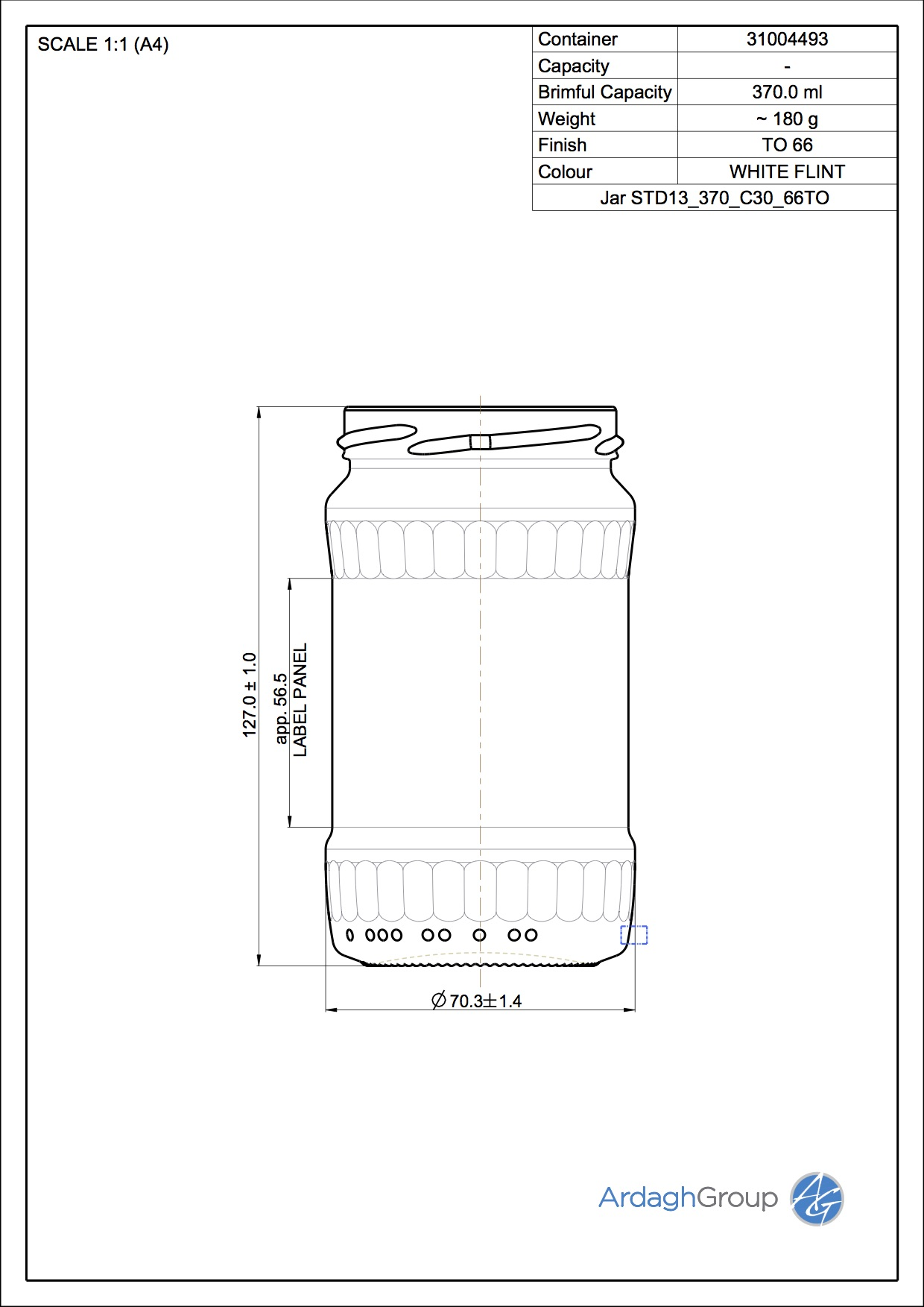 Jar STD13 370 C30 66TO