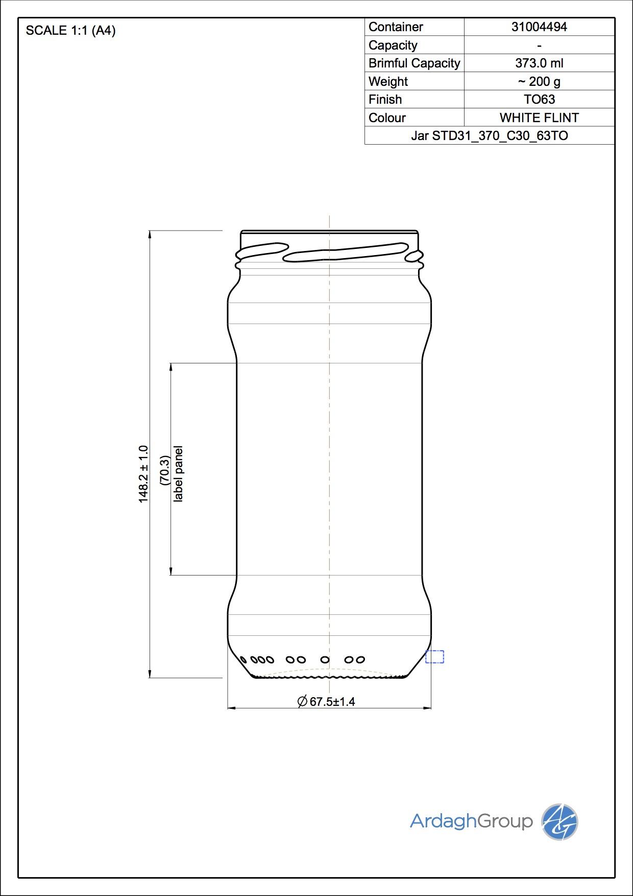 Jar STD31 375 C30 63TO