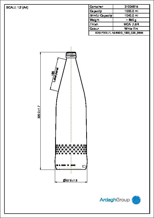 GDB Poolflasche N3 1000ml