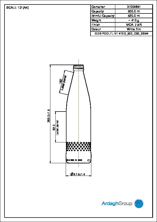 GDB Poolflasche N1 500 ml
