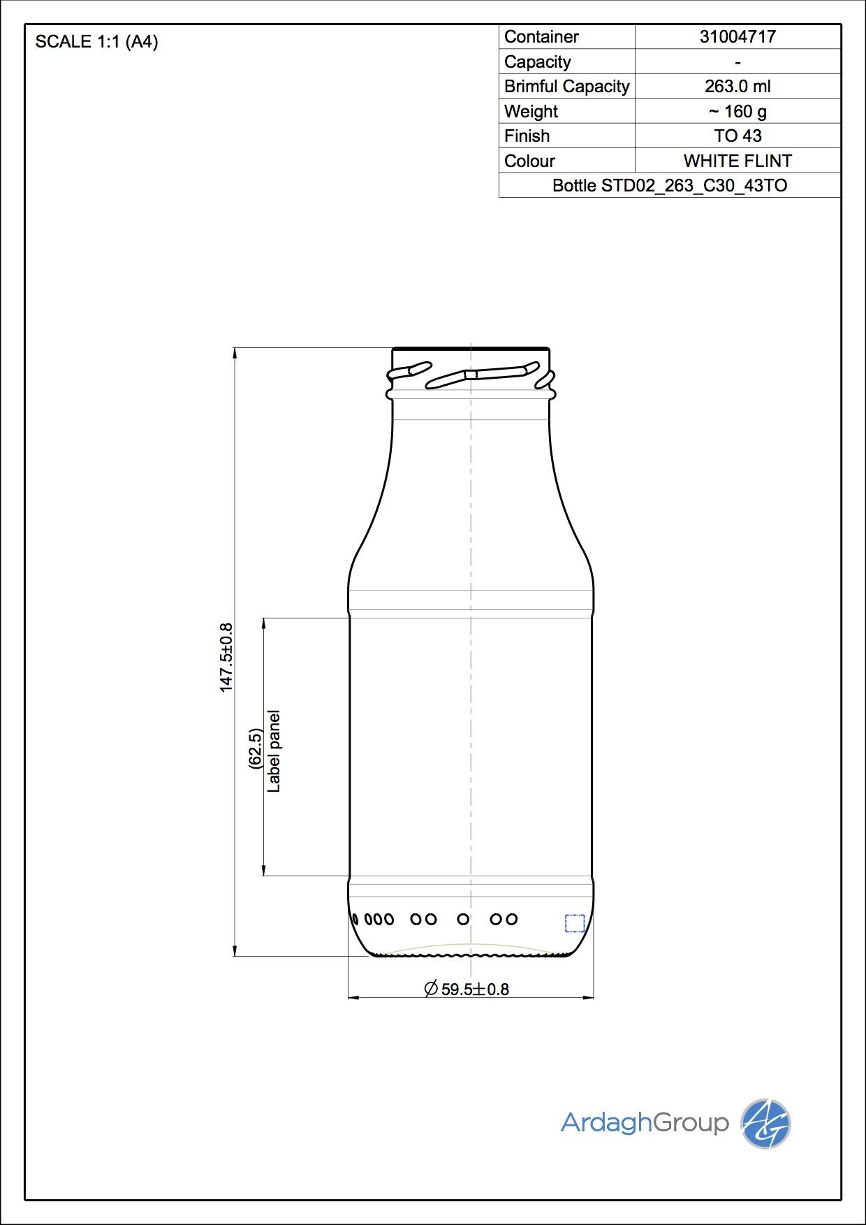 Bottle STD02 263 C30 43TO