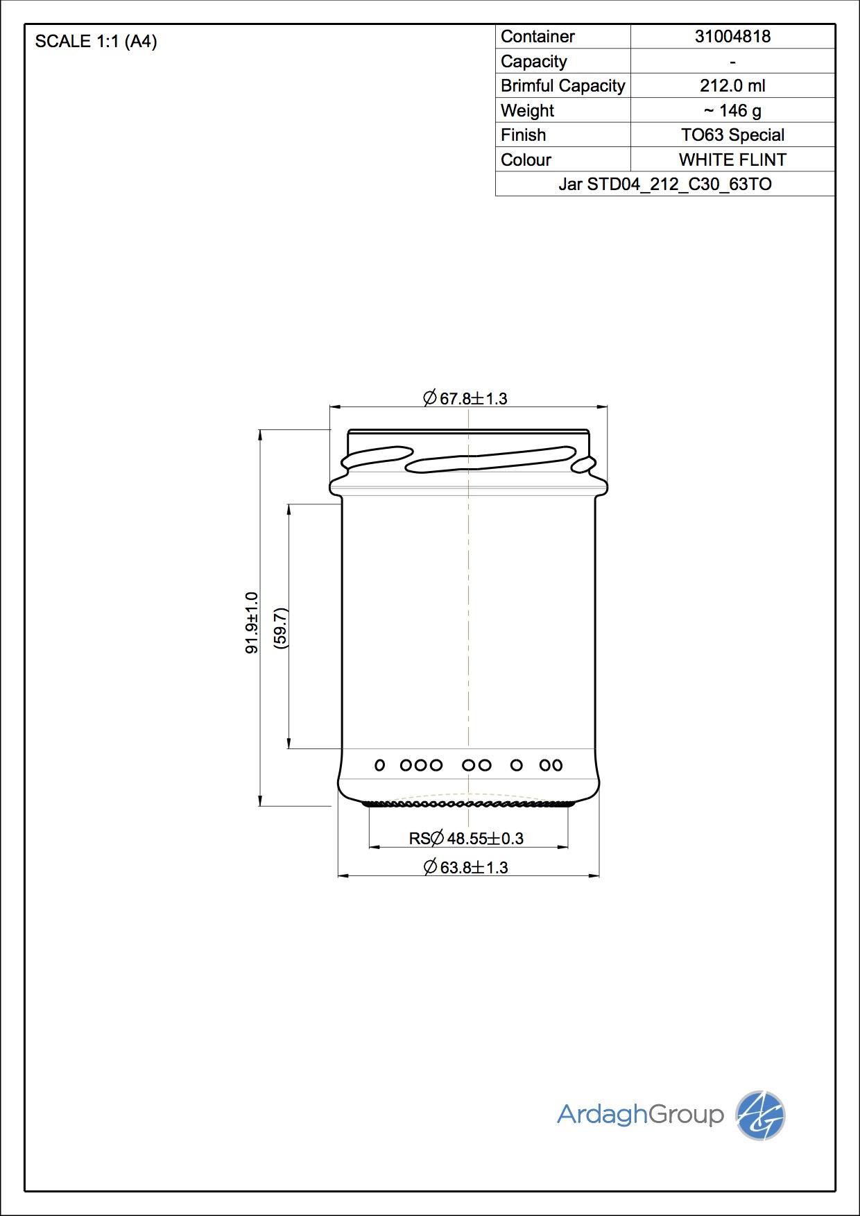 Jar STD04 212 C30 63TO