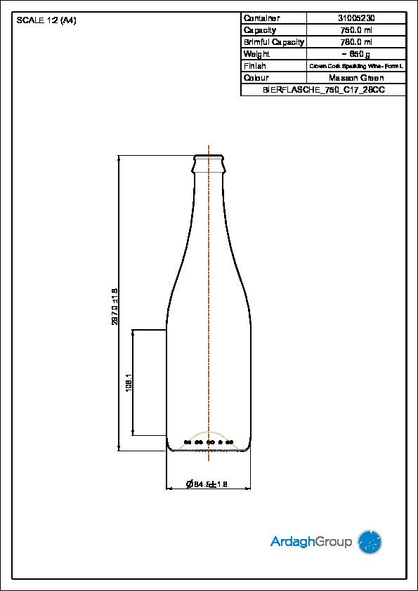 Bierflasche 750ml