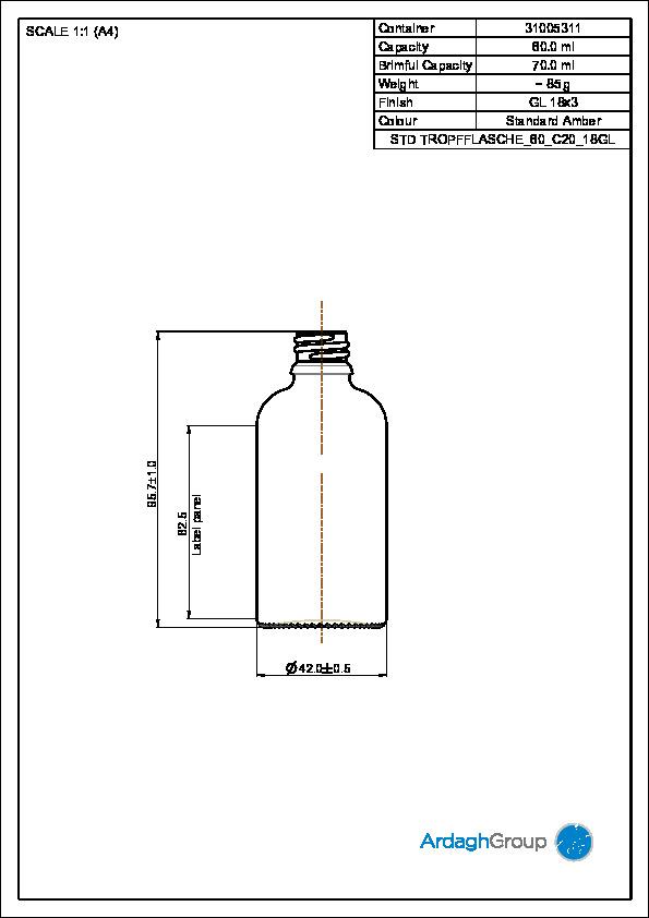 Std. Tropfflasche 60 ml